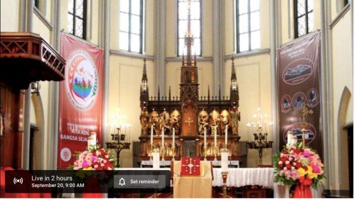 Jadwal Misa Online Minggu 25 Oktober dan Link Live Streaming Youtube dari Gereja Katedral