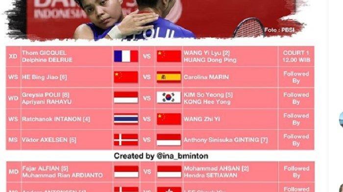 JADWAL Semifinal Indonesia Master dan Live Streaming Mulai Jam 11:30, Indonesia Tempatkan 5 Wakil