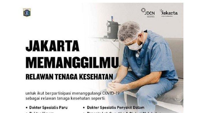 Jakarta Memanggilmu, Dibutuhkan Relawan Tenaga Kesehatan ...