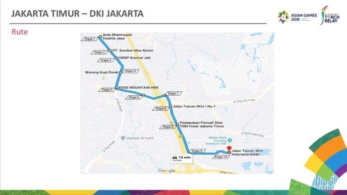 Dilintasi Pawai Obor Asian Games 2018 Jalan Raya Bogor di Tutup 30 Menit, Ini Rute Alternatifnya