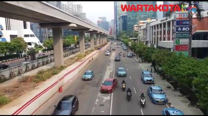 VIDEO Info Lalu Lintas di Masa Transisi PSBB, Rasuna Said Kuningan Ramai Lancar Jumat Sore