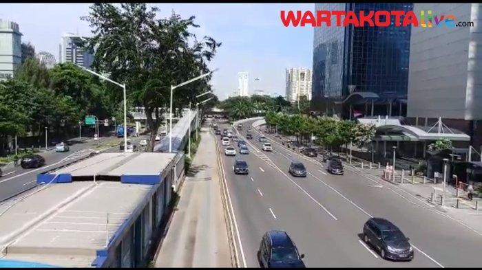 VIDEO Info Lalin: PSBB DKI Diperpanjang, Jalan Sudirman - Thamrin Ramai Lancar Kamis Pagi