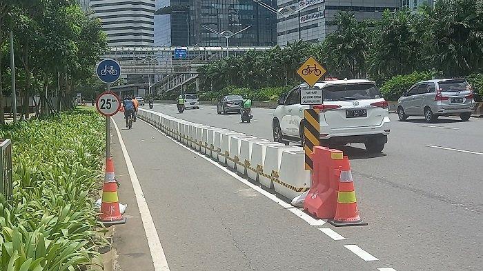 LINDUNGI Pesepeda, Dishub DKI Bakal Segera Tambah Rambu Agar Sepeda Motor Tidak Lintasi Jalur Sepeda