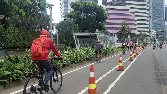 Bangun Jalur Sepeda, Pemprov DKI Gelontorkan Rp 28 Miliar, Termasuk Tugu Sepeda Senilai Rp 800 Juta
