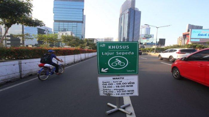 Bersepeda di Luar Jalur Sepeda Permanen Terancam Sanksi Penjara 15 Hari atau Denda Rp 100.000