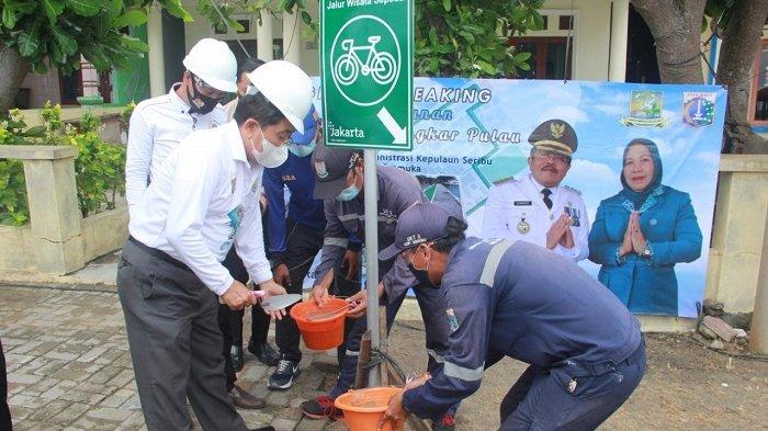 Jalur Khusus Sepeda Wisata Melingkari Pulau Dibangun di Pulau Pramuka Kepulauan Seribu