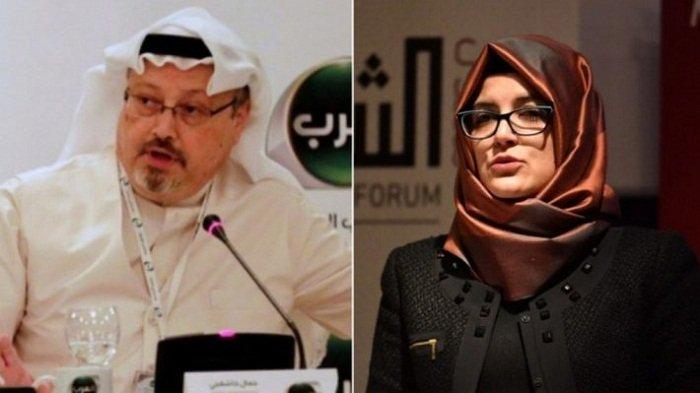 JAMAL Khashoggi dan tunangannya, Hatice Cengiz.