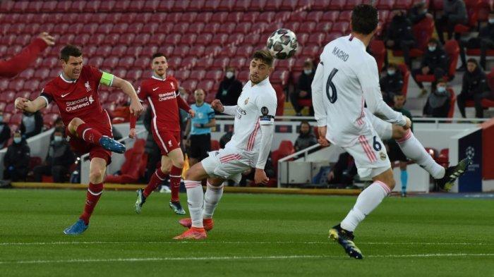 Sedang Berlangsung Liverpool vs Real Madrid, Reds Langsung Menekan, Thibaut Courtois Cemerlang