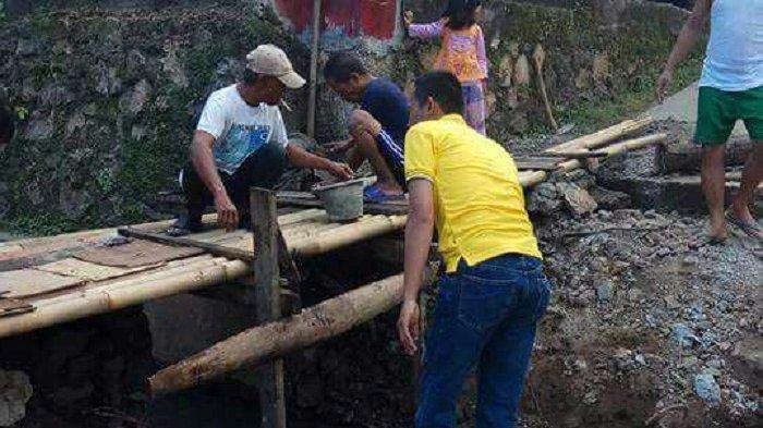 Jembatan Darurat di Ratujaya Depok, Dirusak Orang Tak Dikenal