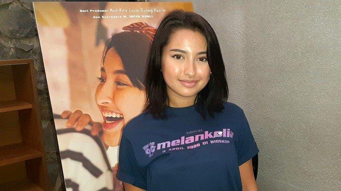 Jennifer Coppen ditemui dalam jumpa pers film Generasi 90an Melankolia di kantor Visinema Pictures, di kawasan Cilandak, Jakarta Selatan, Selasa (10/3/2020).