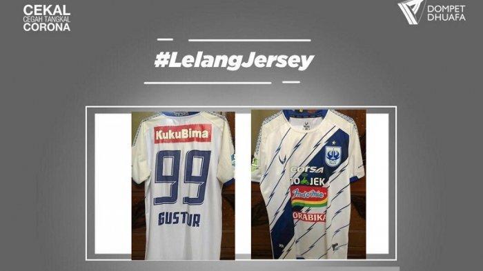Gustur Cahyo Putro Lelang Jersey Bersejarah Saat di Tim PSIS Semarang yang Diperkuatnya Tahun 2018