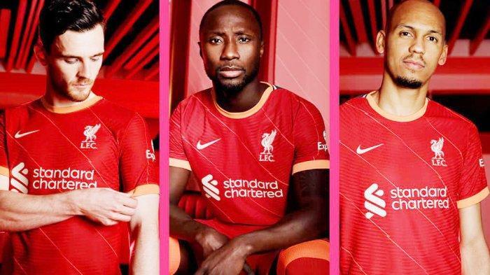 Liverpool Luncurkan Jersey Home Musim 2021/2022 di Laga Terakhir Liga Premier Lawan Crystal Palace
