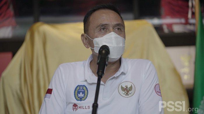Sambutan dari Ketum PSSI di acara peluncuran jersey Timnas Indonesia ketiga