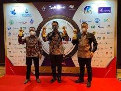 Manajemen PT JIEP Diganjar Tiga Penghargaan TOP BUMD Award karena Tabah Hadapi Pandemi Virus Corona