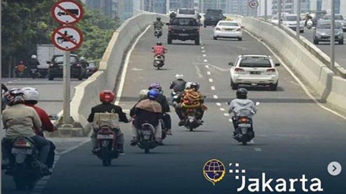 Jalan Layang Non Tol Kampung Melayu-Tanah Abang Kini Ada ETLE, Motor Nekat Terobos Bakal Kena Tilang