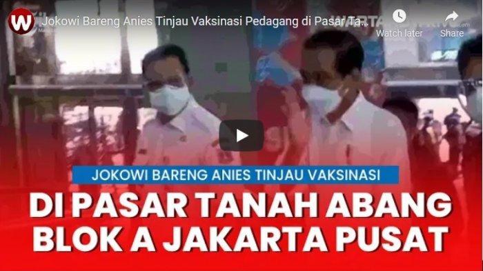 Presiden Jokowi Harap Vaksinasi Pedagang di Pasar Tanah Abang Bisa Dilanjutkan ke Pasar Lain
