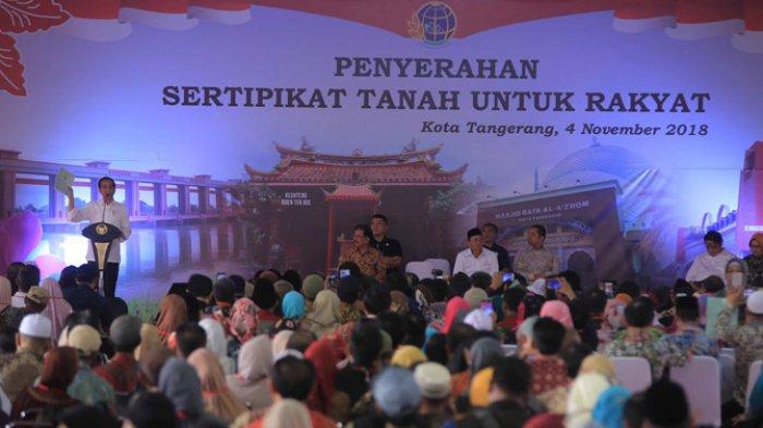 Jokowi Bagikan 6.000 Sertifikat Tanah di Kota Tangerang