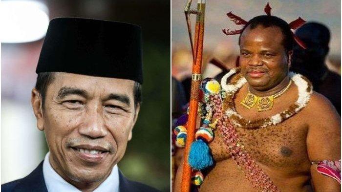 SOSOK RAJA MSWATI III Datang ke Pelantikan Presiden, Punya 15 Istri dan 23 Anak, Satu Istrinya Tewas