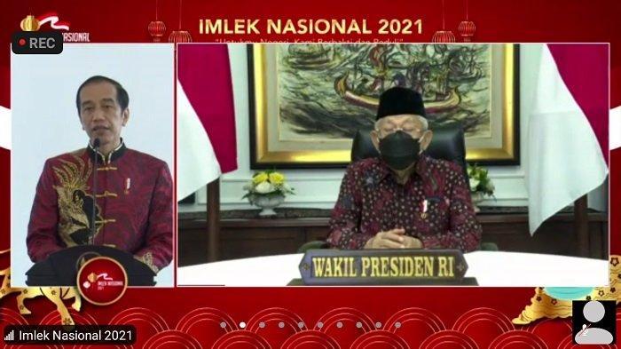 Ini Pesan Presiden RI Jokowi saat Menghadiri Perayaan Imlek Nasional 2021 secara Virtual