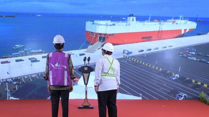 Presiden Joko Widodo Resmikan Pelabuhan Patimban Langsung Lepas Ekspor Mobil