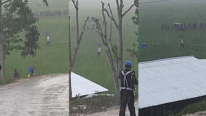 Viral Video Jokowi Menyusuri Persawahan Gunakan Payung Sendirian Saat  Hujan Lebat, Begini Ceritanya