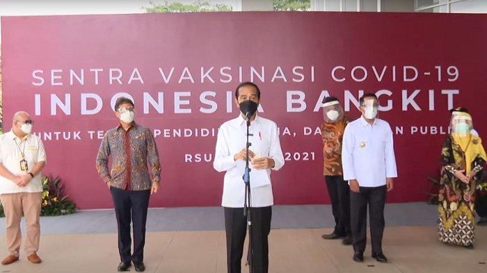 Jokowi: Bulan Ini Target Vaksinasi Covid-19 per Hari 700 Ribu, Juli 1 Juta Dosis per Hari