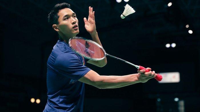Jonatan Christie tunggal putra Indonesia meraih kemenangan atas Wang Tzu Wei 21-17, 21-13