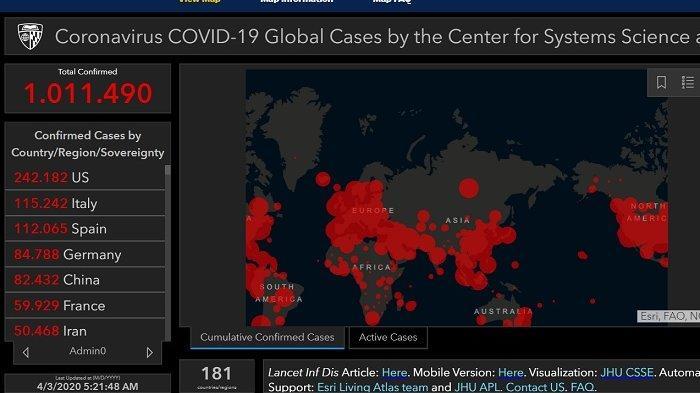 Breaking News Update Corona Terkini Jumlah Kasus 1 Juta Lebih Terparah Amerika Serikat Dan Eropa Halaman All Warta Kota