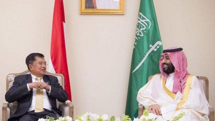 Bertemu Putra Mahkota Arab Saudi Pangeran MBS, Jusuf Kalla Bahas Kilang Minyak di Cilacap