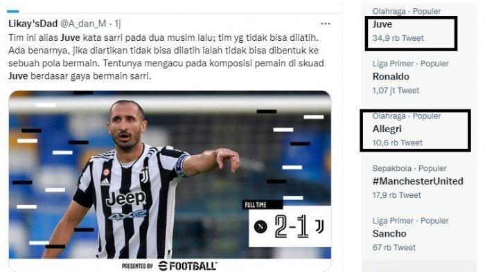 Keok Lagi, Juventus dan Allegri Dibully, Nyonya Tua Kini Huni Papan Bawah Klasemen Liga Italia