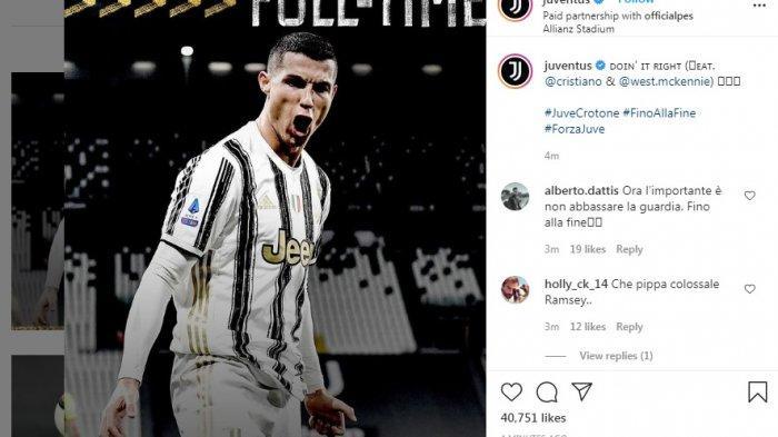 Menang Telak 3-0 Atas Crotone, Juventus Merangsek  ke Posisi 3 Besar di Bawah AC Milan dan Inter