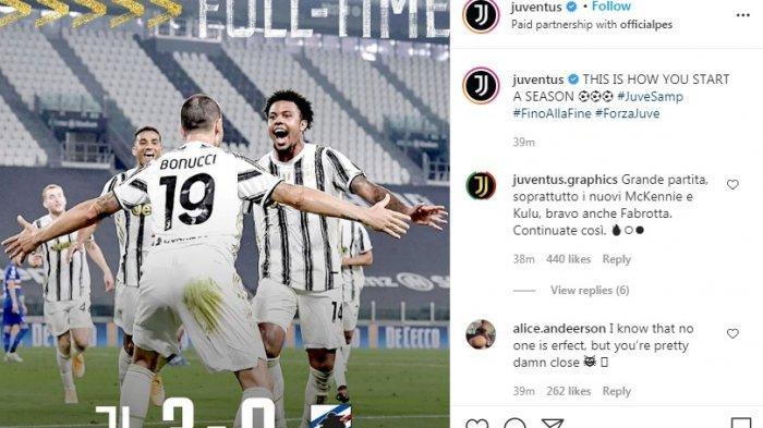 Hasil Lengkap dan Klasemen Liga Italia, Menang 3-0 Atas Sampdoria, Juventus Tempel Genoa di Puncak