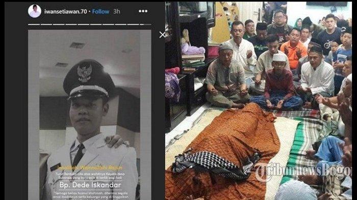 VIRAL! Kronologi Kades Sukaraja Meninggal Pasca 7 Jam Dilantik, Dede Iskandar Sempat Buang Air Kecil