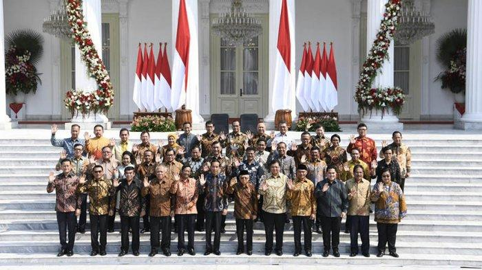 TERBARU, Susunan Lengkap Kabinet Indonesia Maju Hasil Dua Kali Reshuffle