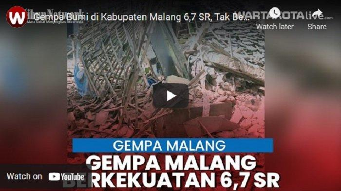 VIDEO Gempa Bumi Guncang Kabupaten Malang, Tak Berpotensi Tsunami