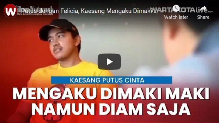 VIDEO Putus dengan Felicia, Kaesang Mengaku Dimaki-maki Namun diam Saja