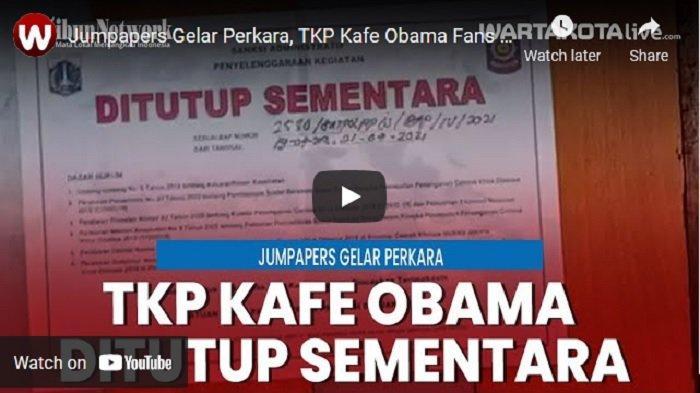 VIDEO Kafe Obama Fans Club yang Jadi TKP Pengeroyokan Anggota Brimob dan TNI Ditutup Sementara