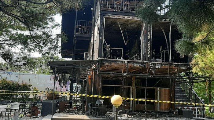 Tabung Gas Meledak Kafe Harvest Box Hancur 8 Orang Pegawai Luka Bakar Pengunjung Histeris Ketakutan