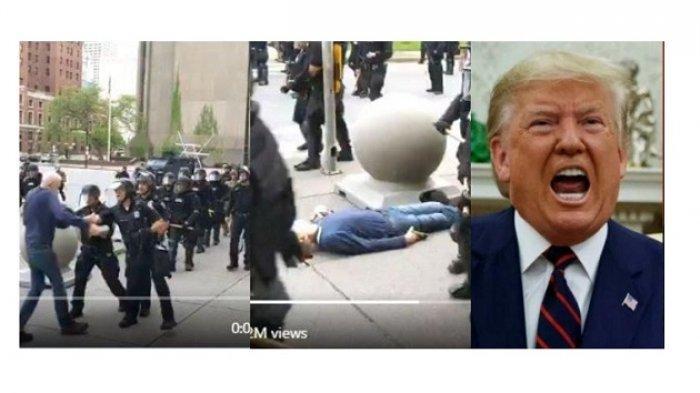 Seorang Kakek Didorong Polisi AS sampai Cedera Otak, Trump Sebut Pendukung George Floyd Settingan