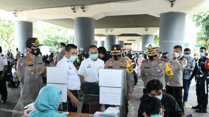 VIDEO Polres Jakarta Pusat Gelar Rapid Antigen Gratis Bagi Calon Penumpang KA