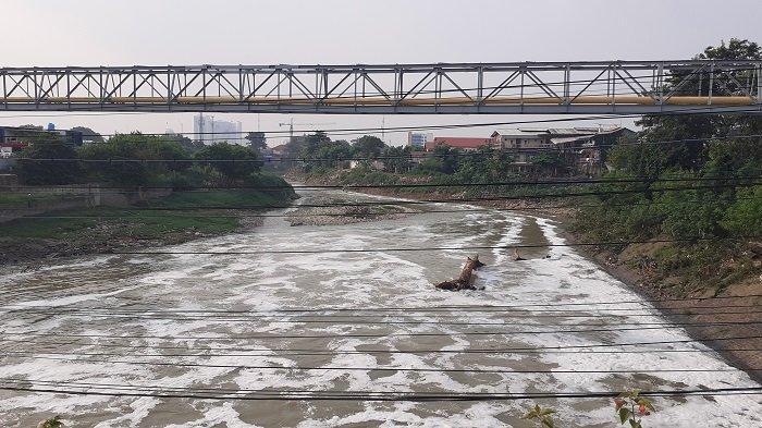 Aroma Kali Bekasi di Jalan Mayor Hasibuan Bau Kentut Bikin Pusing Warga dan Pengendara yang Melintas
