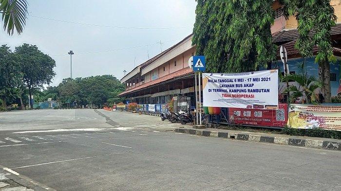 Ada Kebijakan Larangan Mudik, Terminal Bus Kampung Rambutan Sepi Penumpang