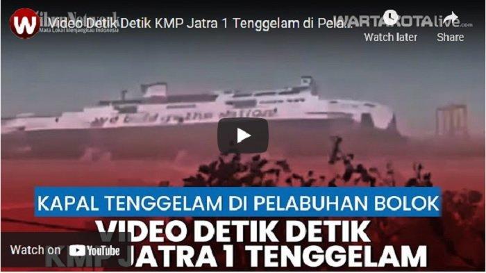 Keterangan Resmi ASDP setelah Dua Kapalnya Kandas dan Tenggelam di Pelabuhan Bolok Kupang