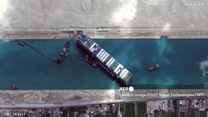 Mesir Sita Kapal Ever Given, dan Minta Kompensasi Rp 13 Triliun Karena Sebabkan Macet Terusan Suez