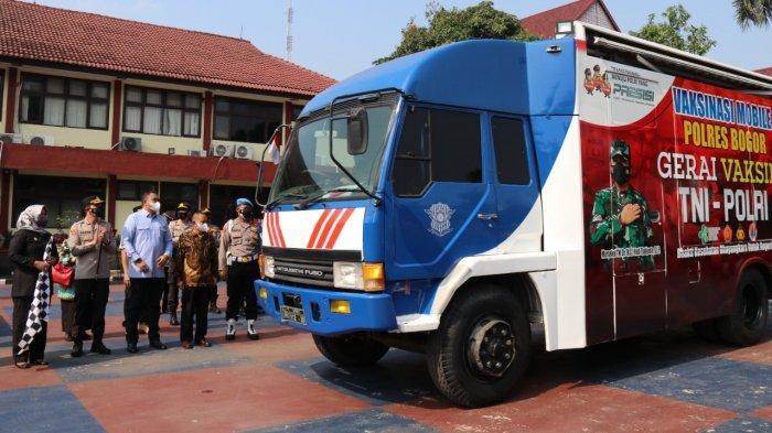Kapolres Bogor AKBP Harun meresmikan Gerai Vaksin Mobile pada Jumat (16/9/2021).