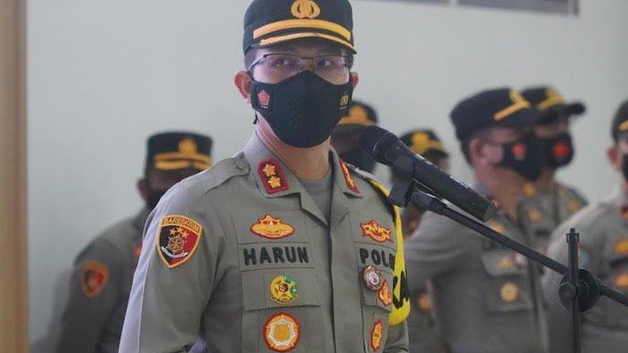 Kapolres Bogor AKBP Harun dalam acara mutasi 7 Kapolsek di wilayah Polres Bogor