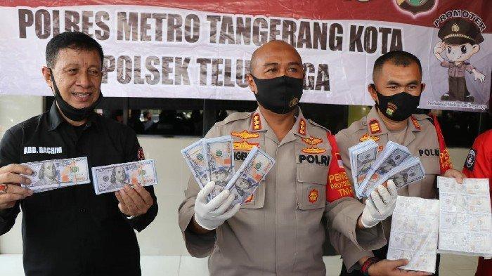 Polrestro Tangerang Bongkar Praktik Peredaran Uang Palsu Dollar Amerika