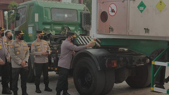 Penuhi Kebutuhan Oksigen di Indonesia Selama Pandemi,Kapolri Sebar 10 Truk Iso Tank