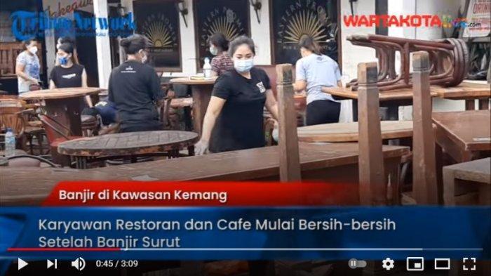 VIDEO Karyawan Kafe, Restoran & Minimarket di Kemang Mulai Bersih-bersih Setelah Kebanjiran 2 Meter