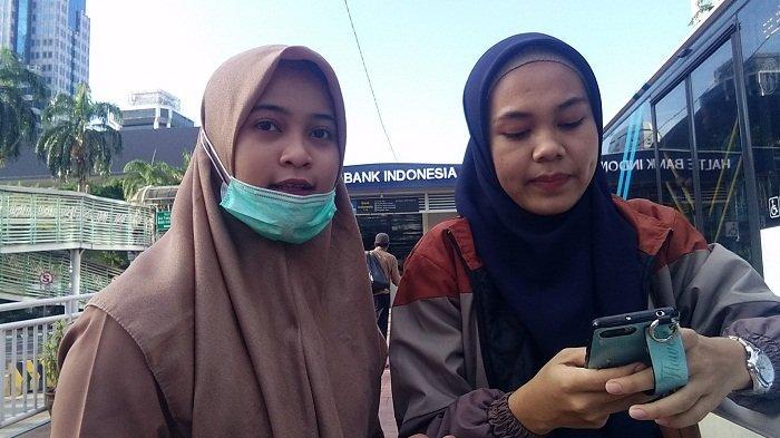 Transjakarta Terhalang Massa Aksi 212, Karyawati di Kawasan Thamrin Ini Pilih Dijemput Pacar